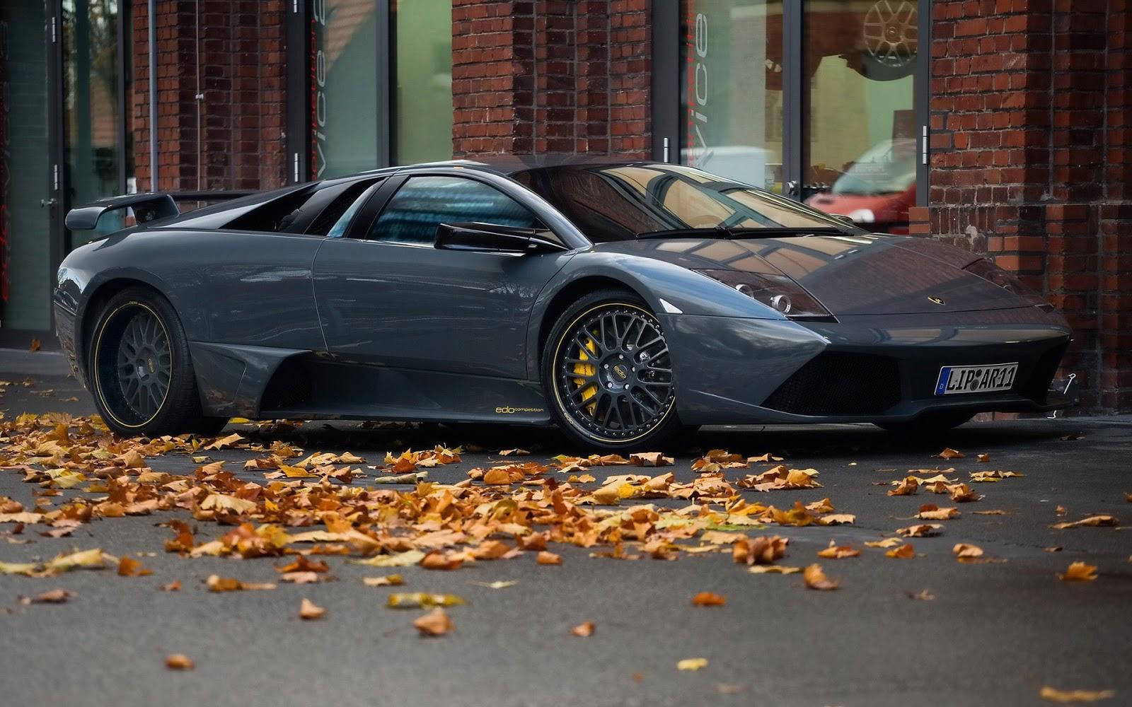 Parked Stylish Lamborghini Wallpaper