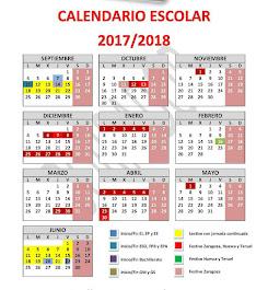Calendario escolar curso 2017 2018 - Aragon