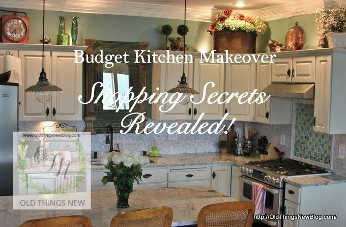 Old Things new shared her Shopping Secrets Budget Kitchen Makeover featured at One More Time Events,com