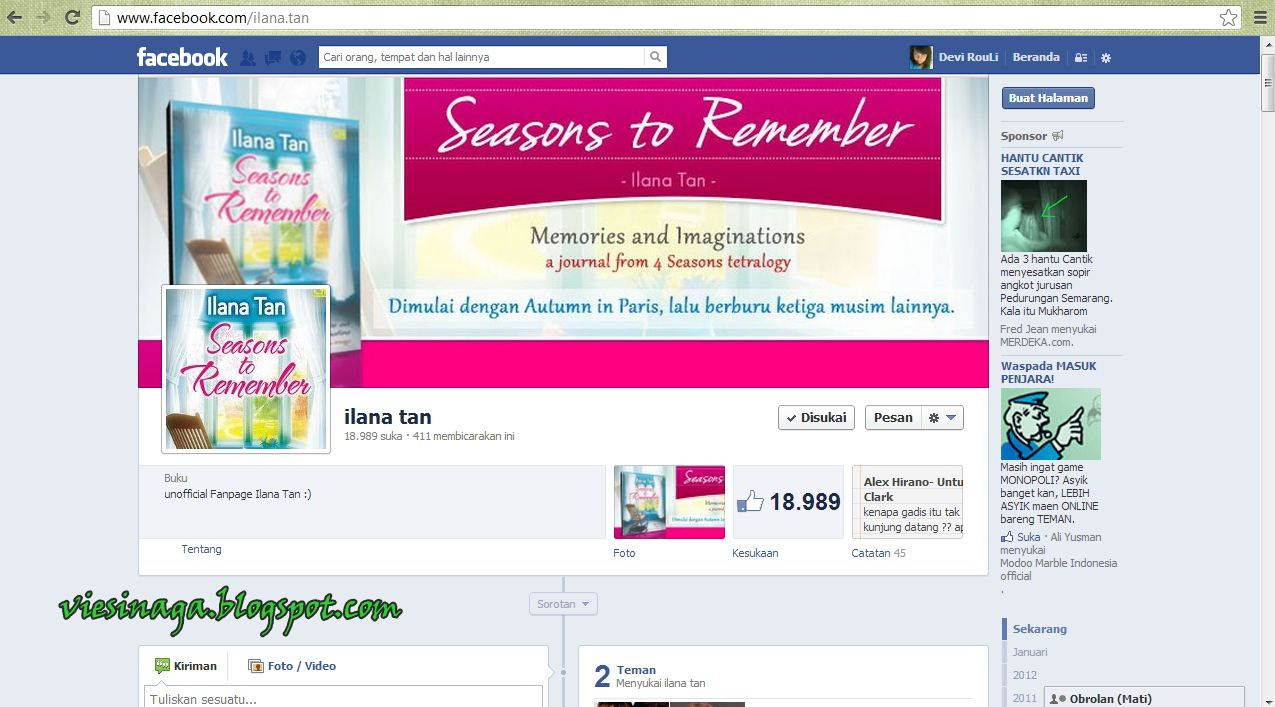 Baca online eBook Seasons to Remember karya Ilana Tan