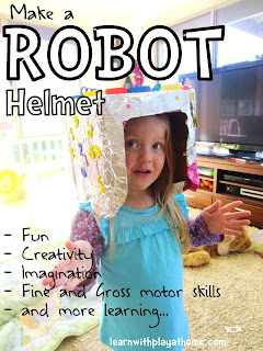 imaginative play, activities for kids, robot activity, box activity