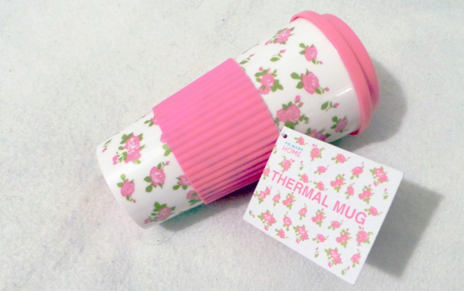 birthday haul blog post - Primark Pretty Floral Thermal Mug