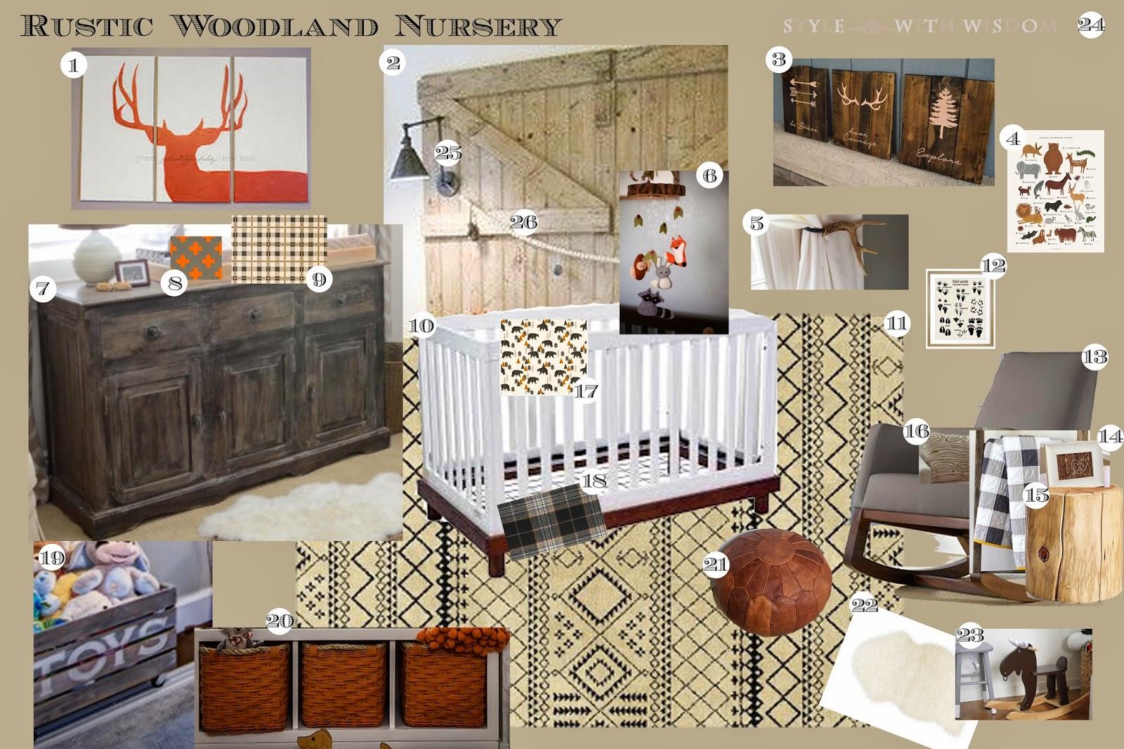 Rustic woodland nursery
