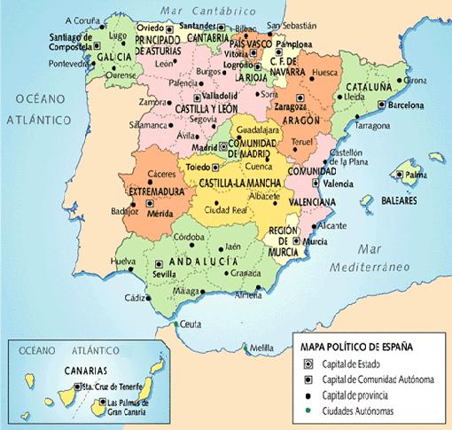 Cu ntas comunidades aut nomas hay en espa a c mo d nde for Correo comunidad de madrid