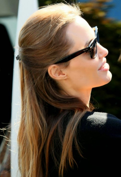 Angelina Jolie Long Straight Hairstyles