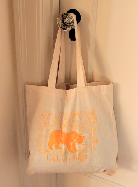 calivintage tote bag from pretty penny