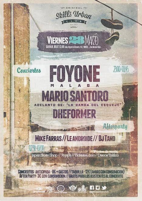 FOYONE + MARIO SANTORO + DHEFORMER el 28 de marzo