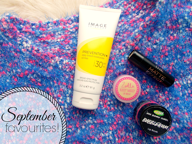 September Favourites 2015 including Makeup Revolution, Zoella Beauty, LUSH & F+F