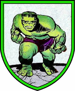 Incredible Hulk coat of arms of De Hulk, North Holland,  Netherlands