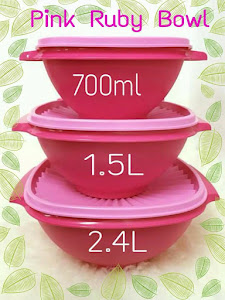 Tupperware Pink Ruby Bowl (3) RM100 per set !