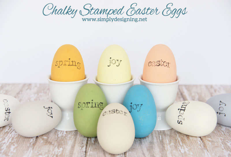 Chalky Stamped Easter Eggs | learn how to create wooden chalk paint eggs with hand stamped accents | #chalkpaint #easter #crafts #stamped