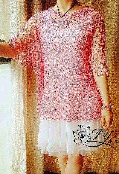 Blusa Calada a Crochet o Ganchillo