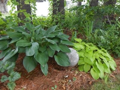 Hypertufa garden orb