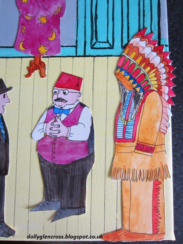 Mr Benn 1970s drawing painting
