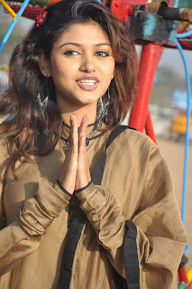 Oviya Helen spotted in brown Churidar Spicy Pictures