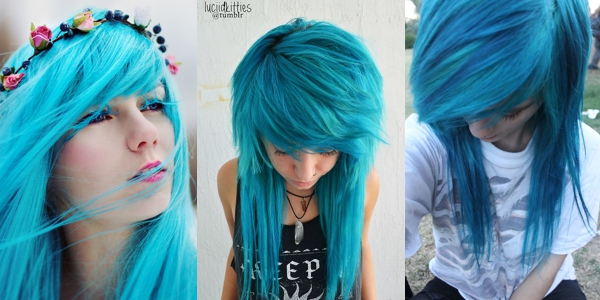 how to make cyan hair dye