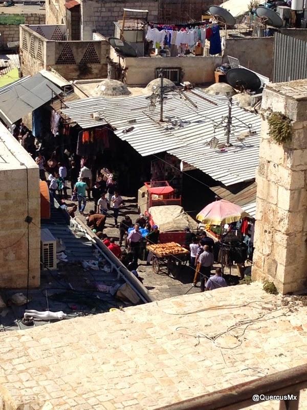 Market inside the ramparts of Jerusalem