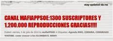 1300 SUSCRIPCIONES 1.200.000 VISITAS