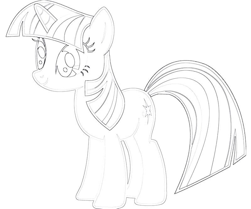 #6 Twilight Sparkle Coloring Page