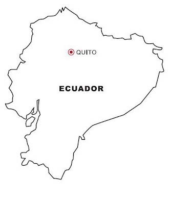 Mapa de Ecuador para colorear ~ 4 Dibujo
