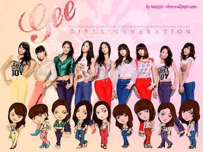 Wallpaper SNSD gee