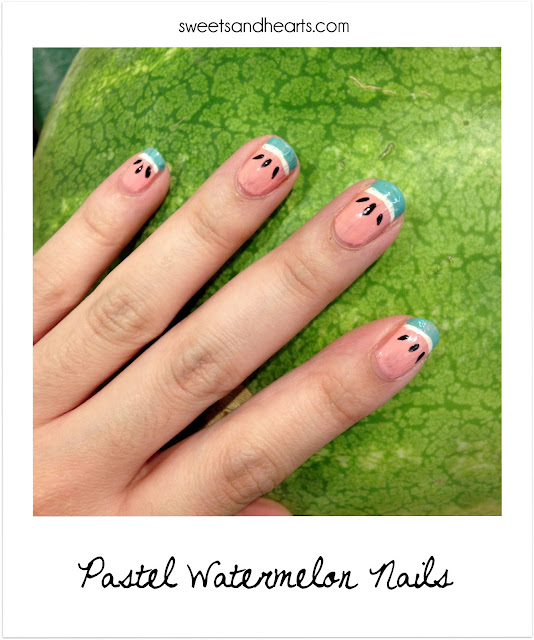 Nail Polish Design Tutorial: Pastel Watermelon Nails