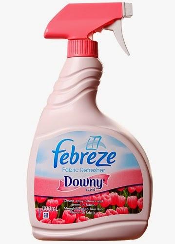 Febreze fabric refresher, Harga febreze: RM10.20, gambar febreze, Jenis: Country fresh, Kegunaan febreze: Frebeze menghilangkan bau pada kain dan meninggalkan keharuman yang segar.