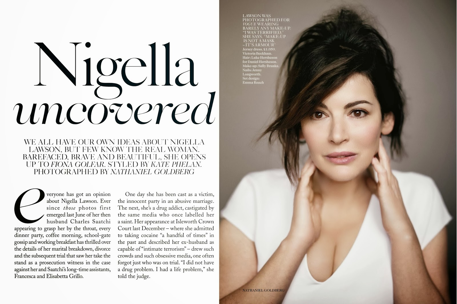 Nigella Lawson - Vogue Magazine UK, April 2014