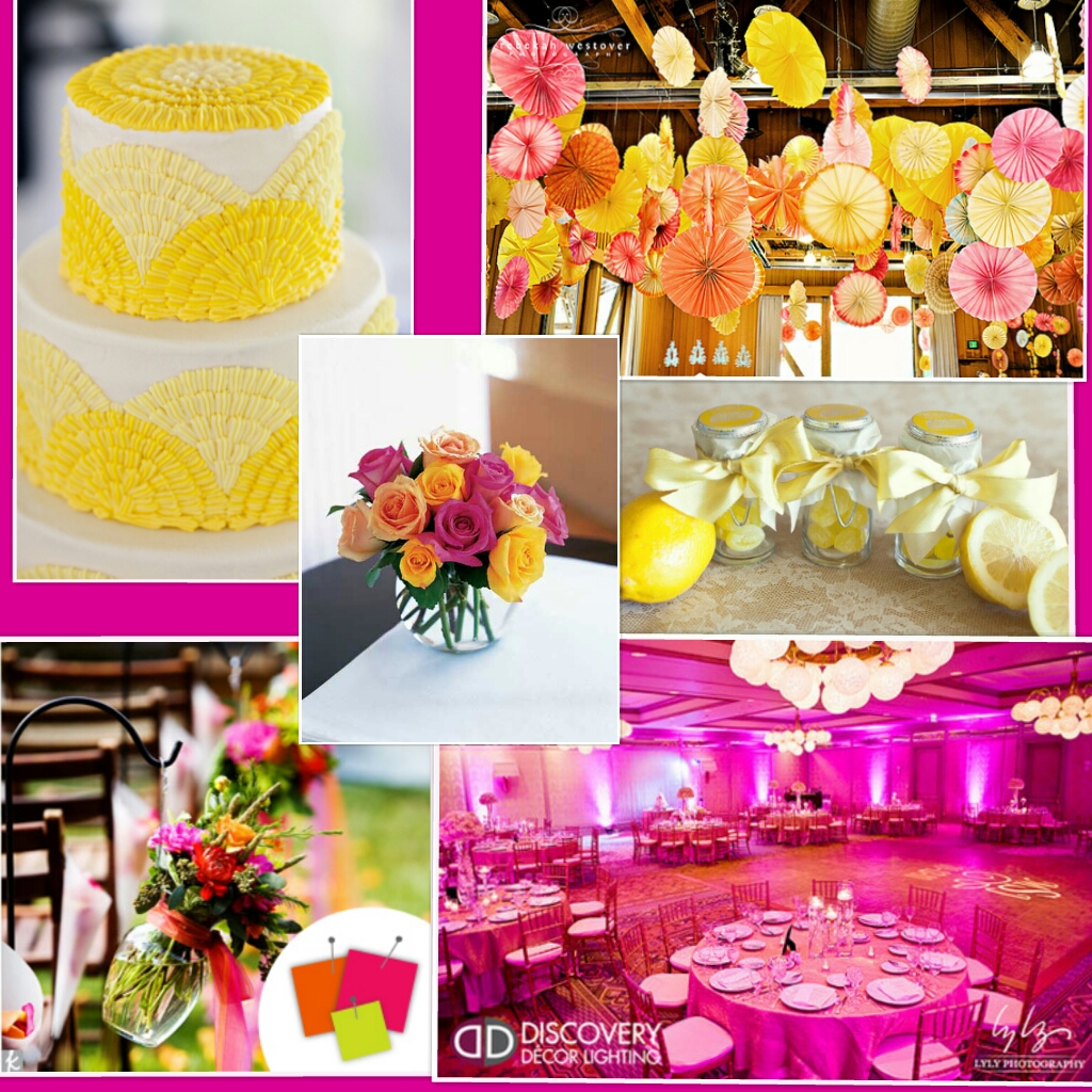 Wedding Ideas Hot Pinkyellow And White Wedding