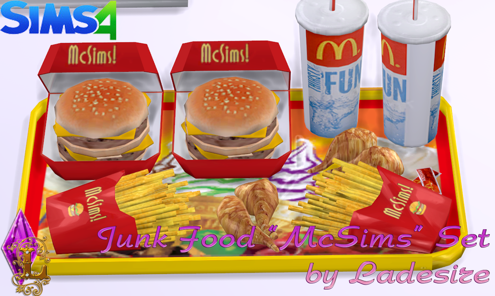 Ladesire S Creative Corner Ts4 Quot Mcsims Junk Food Quot By Ladesire