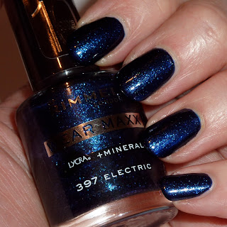Rimmel Wear Maxx Nail Polish Swatch of Electric