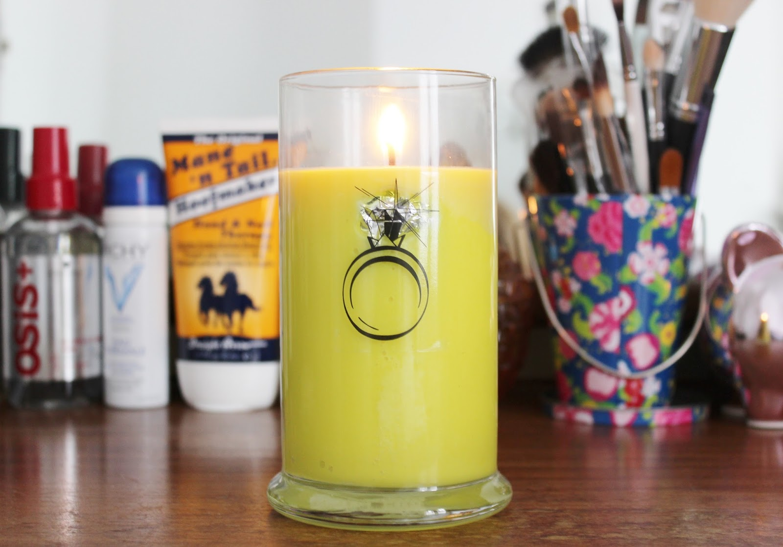 Passion Fruit ring Jewel Candle