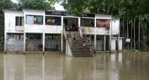 School damage by flood