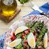 Szparagi z winegretem i warzywami