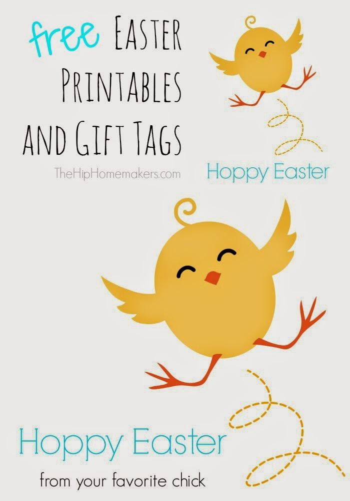 The hip homemakers free easter printables and gift tags square gift tag for these eggcellent happy easter printables negle Images