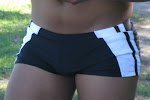 EFFECTS OF FAST FASHION-boy shorts in black and  white insert
