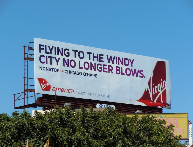 Virgin America Windy City billboard