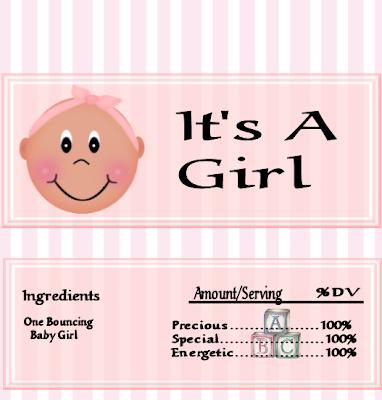 Nice Baby Girl: Free Printable Chocolate Wrapper.