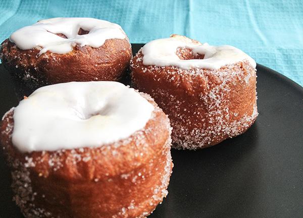 receta cronuts caseros: croissant + donut