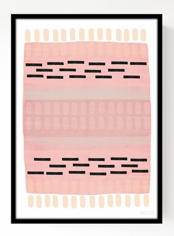 Pastel Abstract print A3 - Seventy Tree