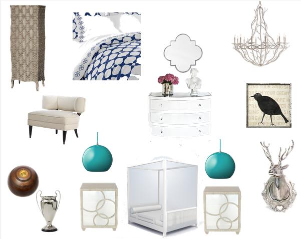 romantic guest bedroom inspiration board