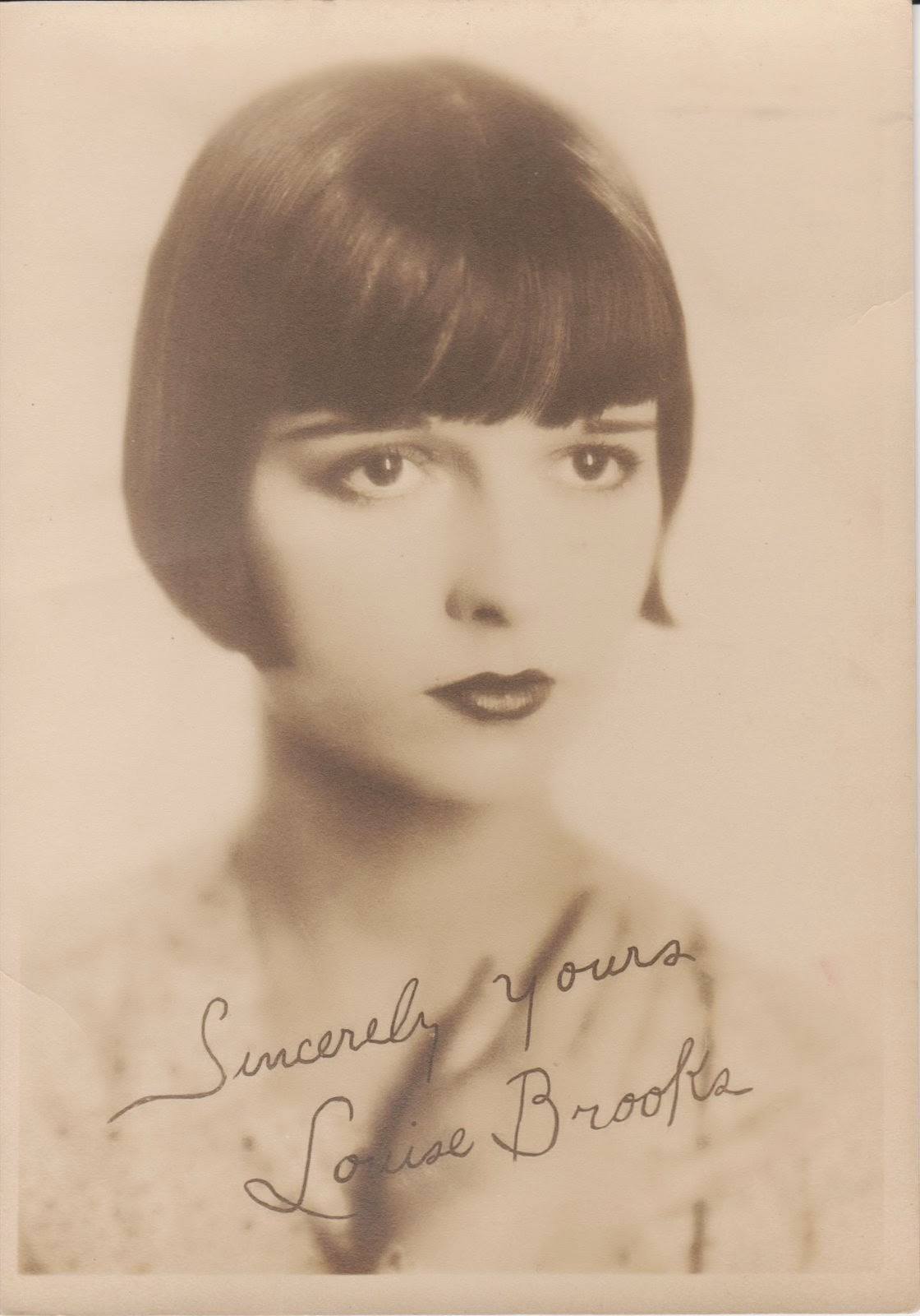 "Sincerely yours, Louise Brooks. "" - sincerely-yours"