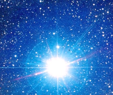 blue giant star in space - photo #22