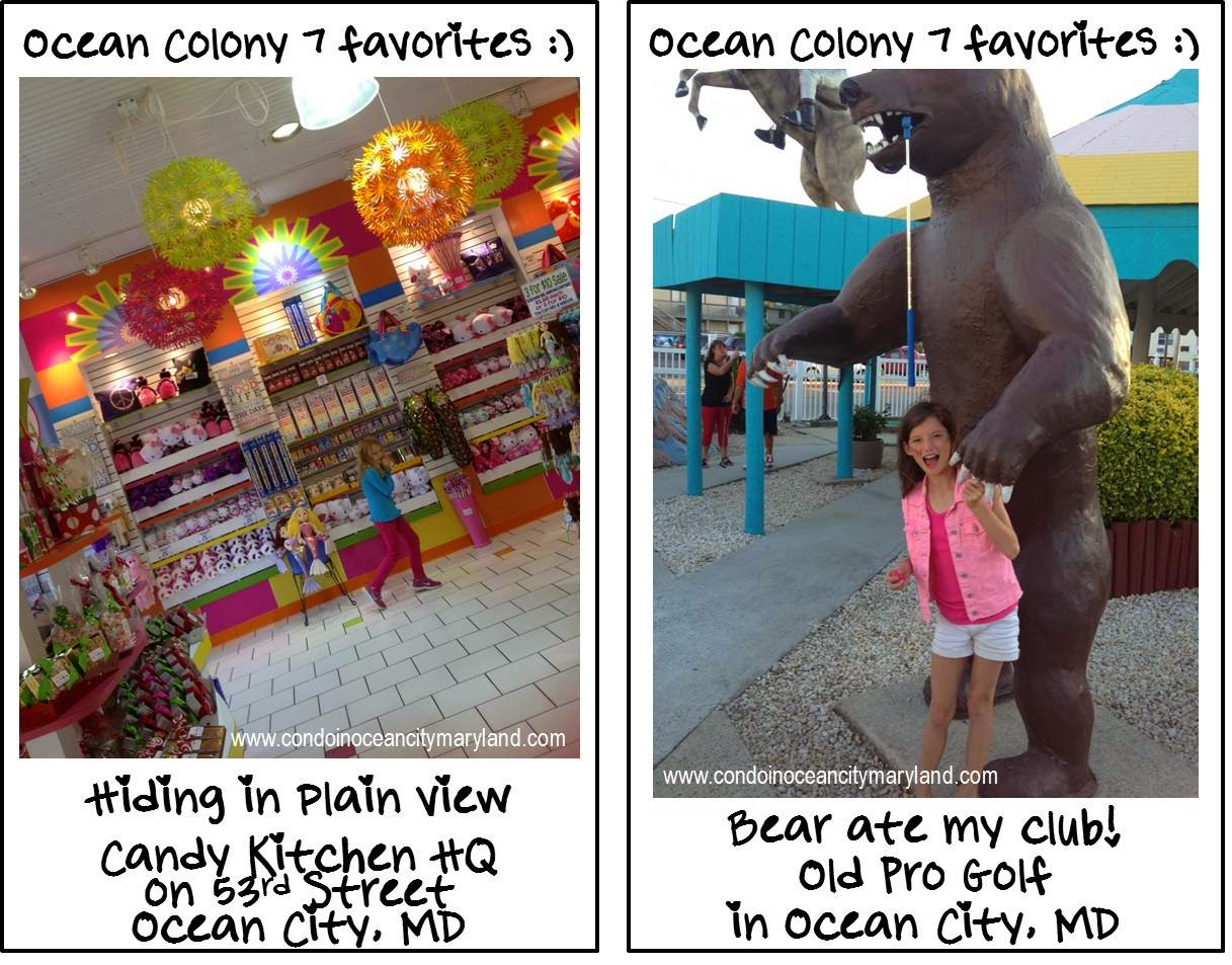 Ocean Colony 7 favorite candy and mini golf in Ocean City, MD