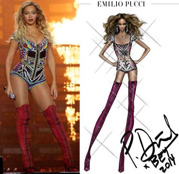 Beyonce In Emilio Pucci Michael Costello For Her 39 Mrs