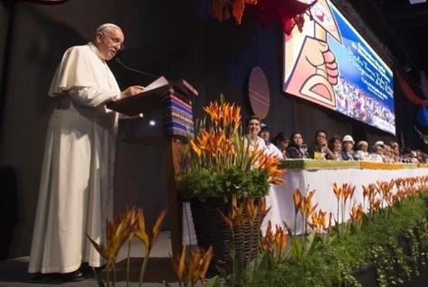 El Papa Francisco a los movimientos populares en Bolivia