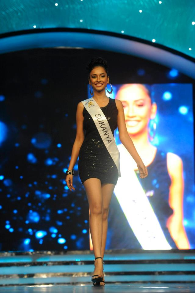 Sukanya Bhattacharya, winner of Royalty Femina Miss Dancing Queen 2013 Sub-Title during the Ponds Femina Miss India 2013 beauty pageant held at Yash Raj Studios in Mumbai on March 24, 2013.