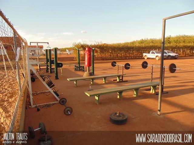 Nova academia instalada na Fazenda Planeste, em Balsas (MA). Foto: Arquivo pessoal