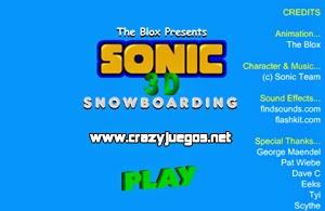 Jugar Sonic Snowboard