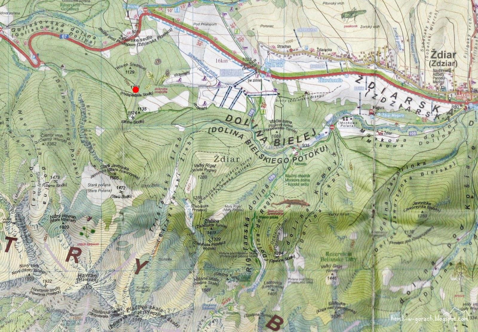 Podspadzkie Siodło na mapie